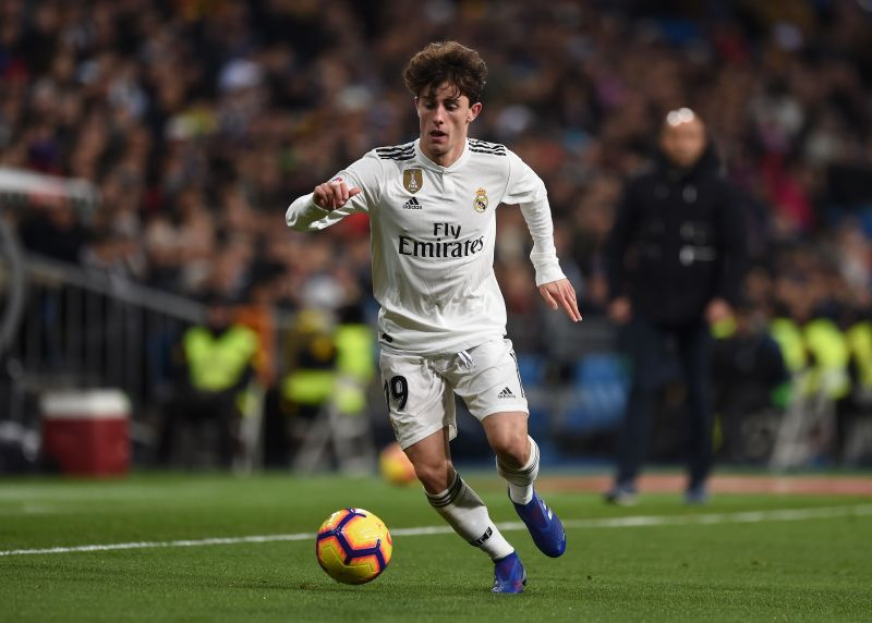 Alvaro Odriozola during a La Liga game against Deportivo Alaves