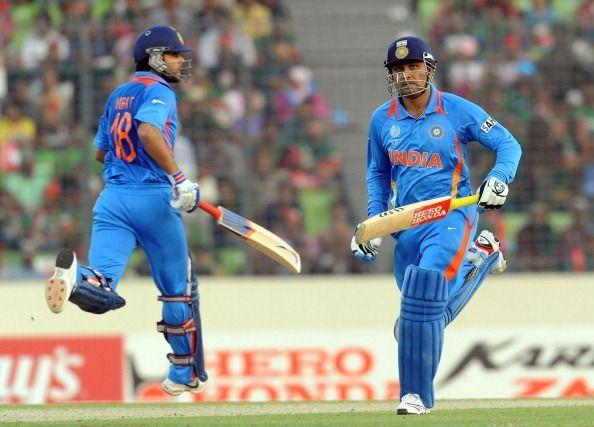 वीरेंदर सहवाग (175)और विराट कोहली (!00*) ने बांग्लादेश के खिलाफ जड़े थे शतक