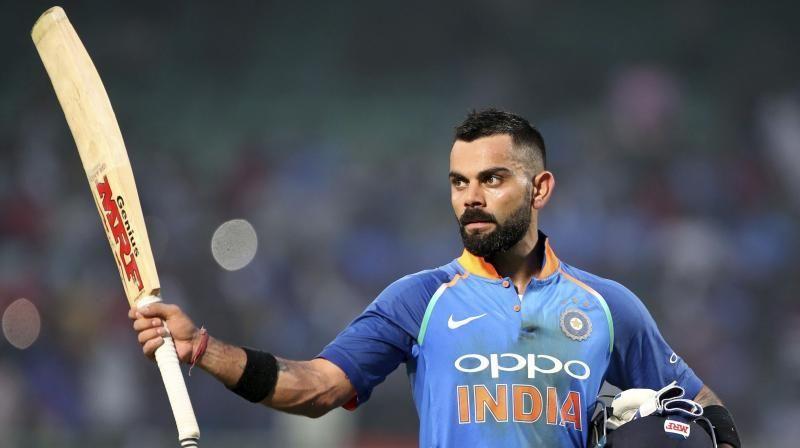 Virat Kohli soaks in the applause