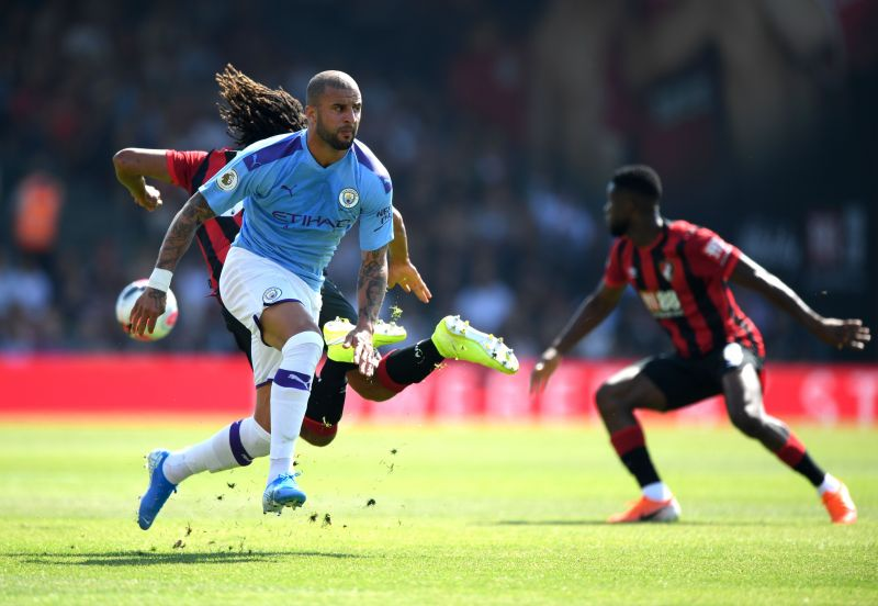 Kyle Walker during a Premier League game against AFC Bournemouth