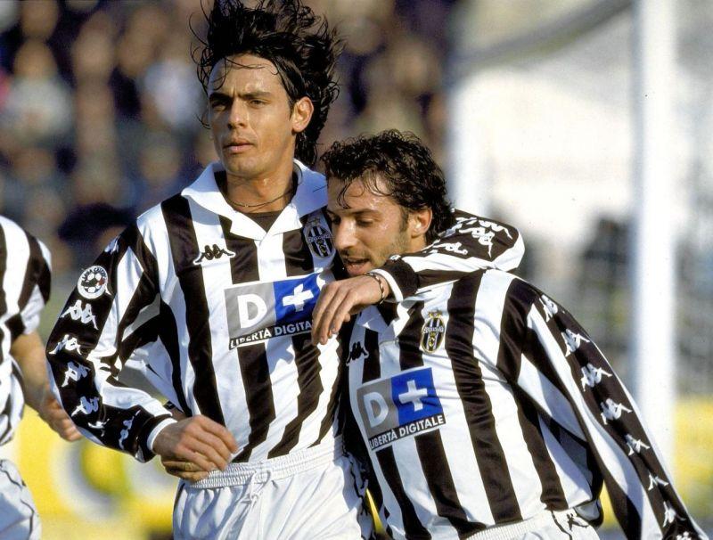 Filippo Inzaghi and Alessandro Del Piero