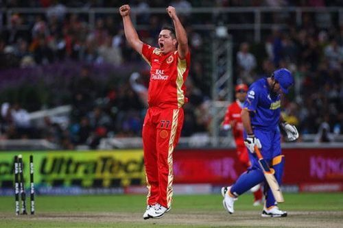 Royal Challengers Bangalore routed Rajasthan Royals in a 2009 IPL game in Cape Town