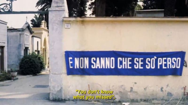 "On the local cemetery wall after the first-ever Scudetto: ""You don"