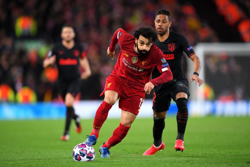 Mohamed Salah during a Champions League game against Atletico Madrid