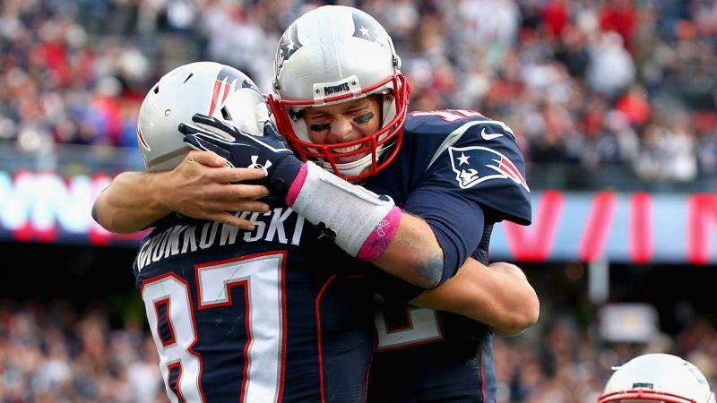 Rob Gronkowski and Tom Brady - cropped