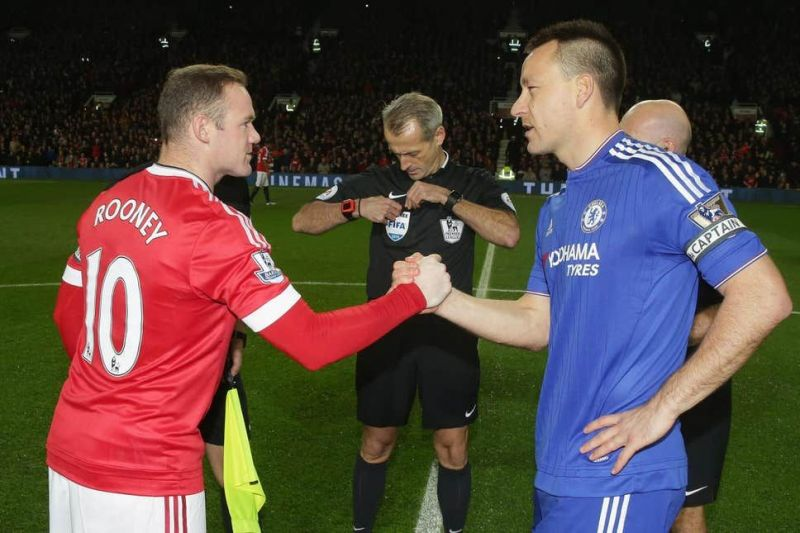 England teammates Wayne Rooney and John Terry played for different Premier League clubs.