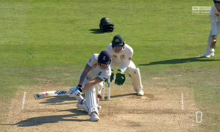 Ben Stokes plumb in front, two runs away from a historic chase, was given not out.