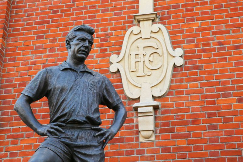 Johnny Haynes has his statue outside Craven Cottage.