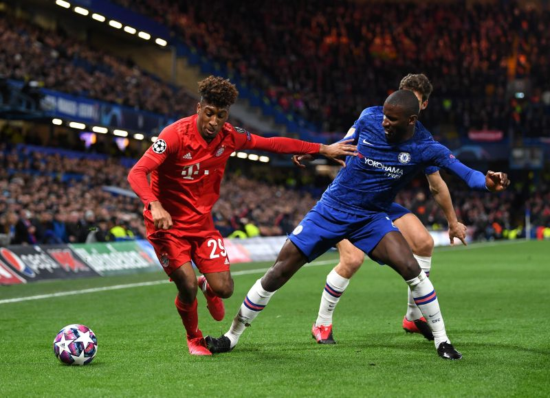 Kingsley Coman during a Champions League game against Chelsea