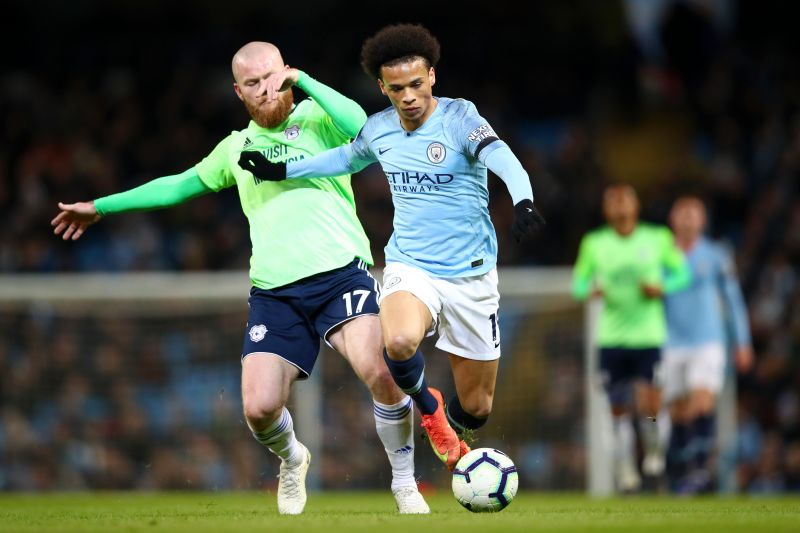 Leroy Sane during a Premier League game