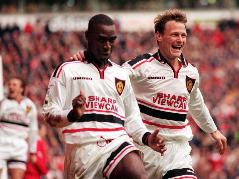 Andy Cole and Teddy Sheringham