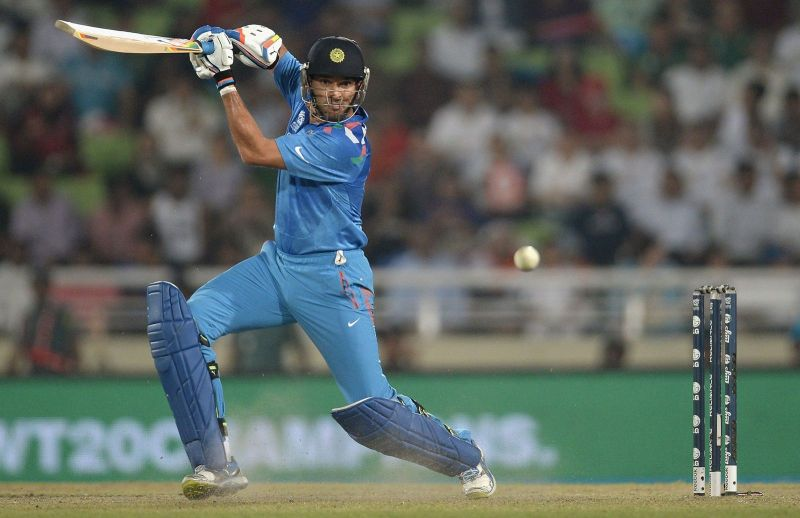 Yuvraj Singh punches through the covers