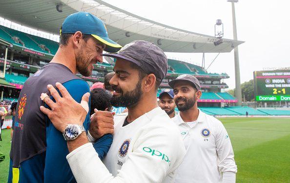 2018 टेस्ट सीरीज के दौरान भारत और ऑस्ट्रेलिया के खिलाड़ी