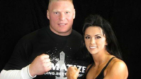 Brock Lesnar with Nicole McClain