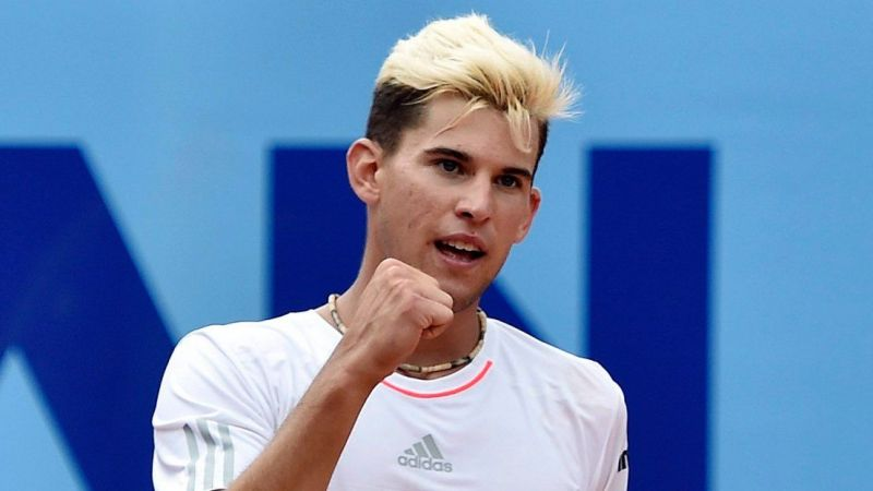 A very blonde Dominic Thiem back in 2015