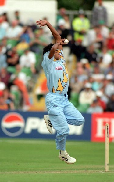 The ICC designed their logo of the CWC 1999 on Debashish Mohanty