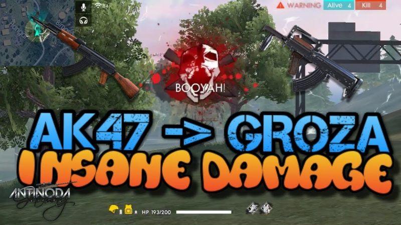 AKM vs Groza in Free Fire