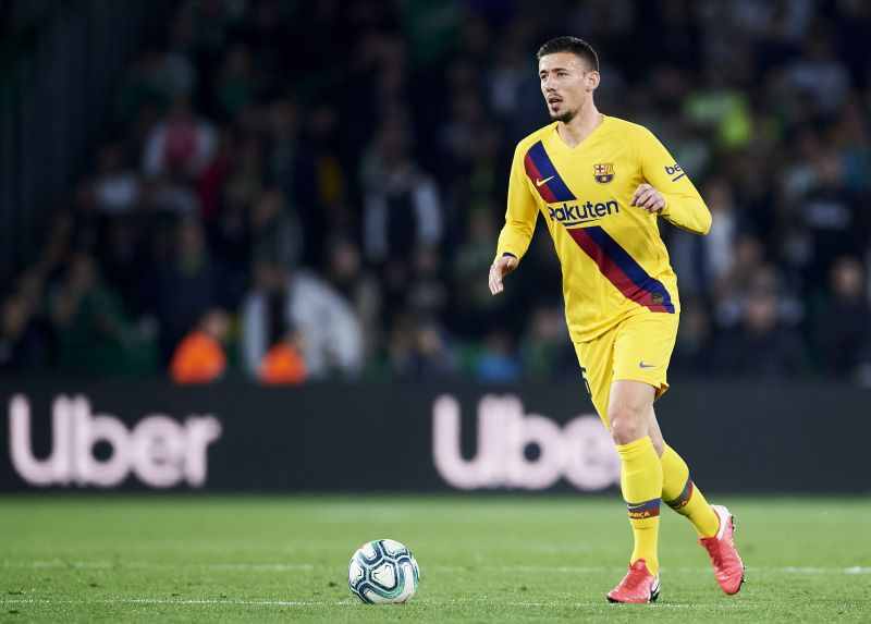 Clement Lenglet in action for Barcelona