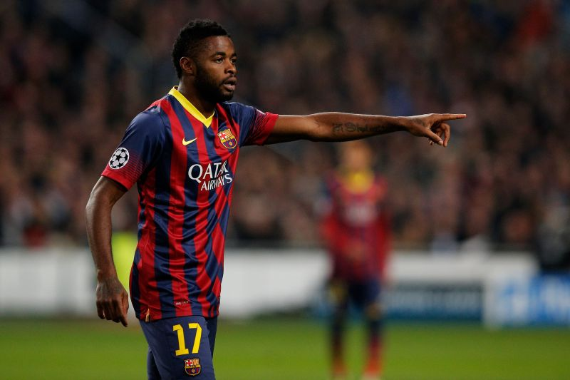 Alex Song endured a torrid spell with Barcelona