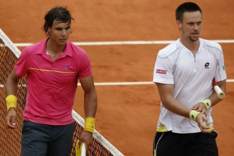 Rafael Nadal lost for the first time at Roland Garros, going down to Robin Soderling in the 2009 fourth round