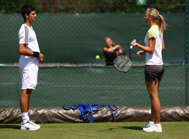 Novak Djokovic and Maria Sharapova go way back