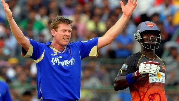 James Faulkner took two 5-wicket hauls against Sunrisers Hyderabad in IPL 2013
