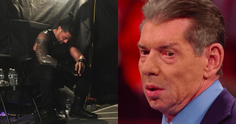 Roman Reigns and Vince McMahon.