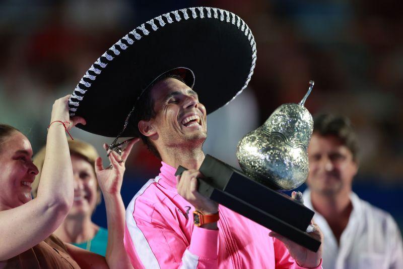 Rafael Nadal won the Acapulco title in February before the virus outbreak began
