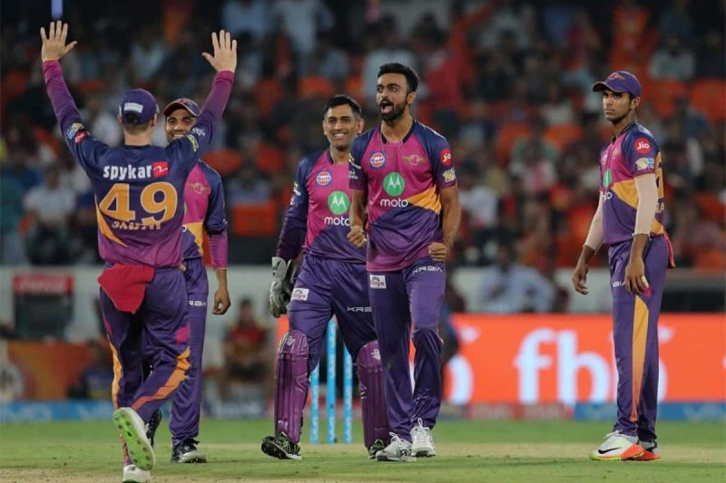 Steve Smith and MS Dhoni look two very happy figures on Unadkat