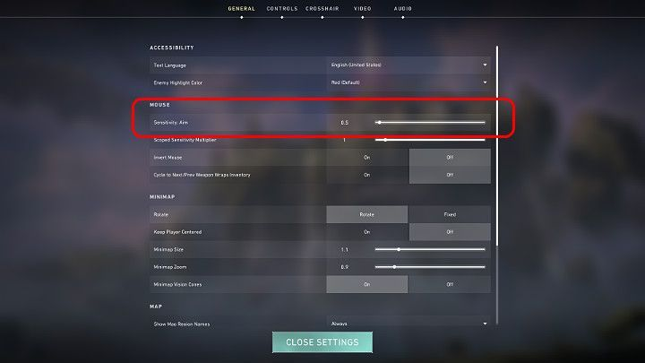 Mouse Sensitivity Values (picture credits: GamePressure)