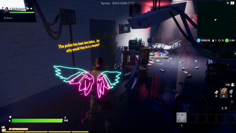 Patient 104 map in Fortnite