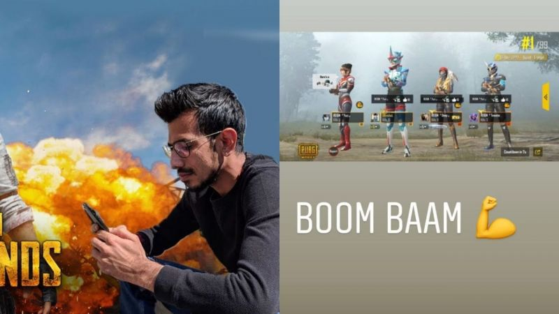 Yuzvendra Chahal (L) is known to be a fan of PUBG