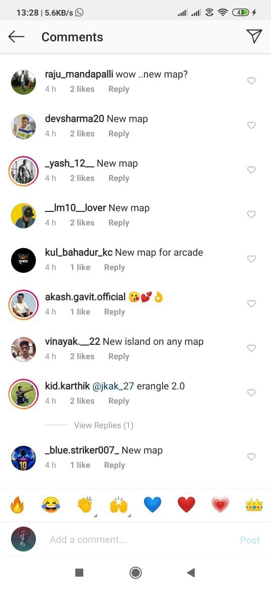 Comment Section of the Instagram post