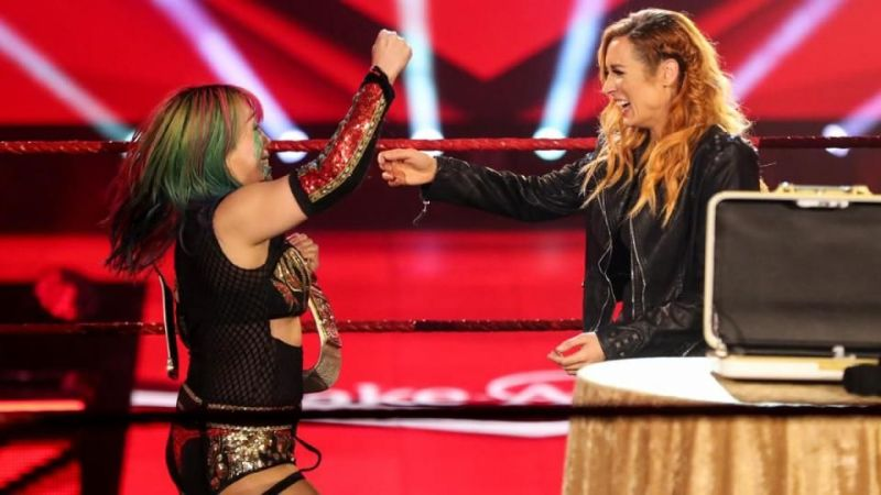 Becky Lynch and Asuka on WWE RAW
