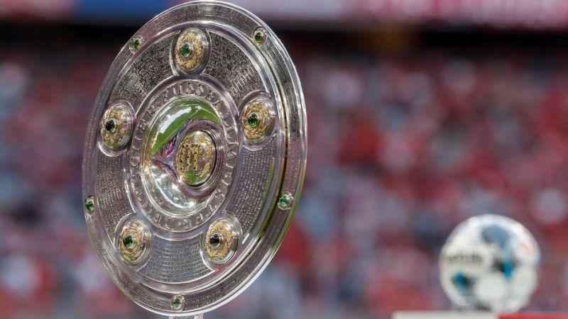 The Bundesliga trophy on display