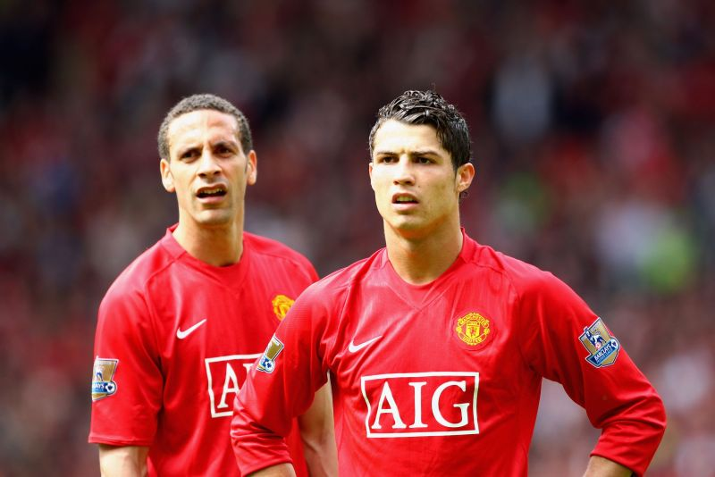 Cristiano Ronaldo and Rio Ferdinand were teammates for six years at Manchester United