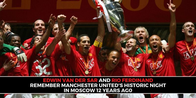 Manchester United celebrate their Champions League triumph