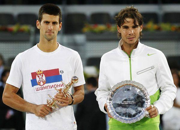 Novak Djokovic beat Rafael Nadal in the 2011 Madrid Masters Final