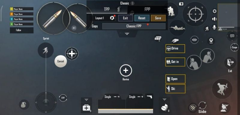 Screenshot of the layout
