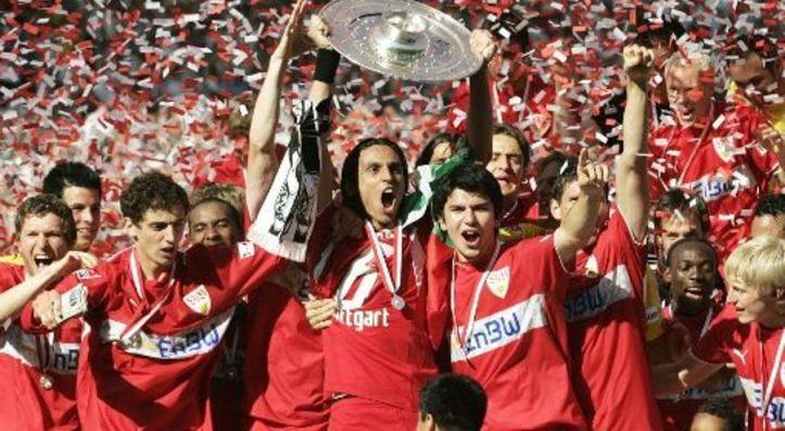 Bundesliga VfB Stuttgart celebrate their 2006-07 Bundesliga title