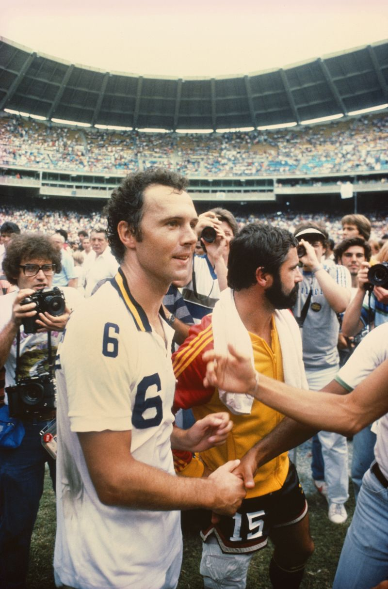 Franz Beckenbauer won the 1981-82 Bundesliga title with Hamburger SV.
