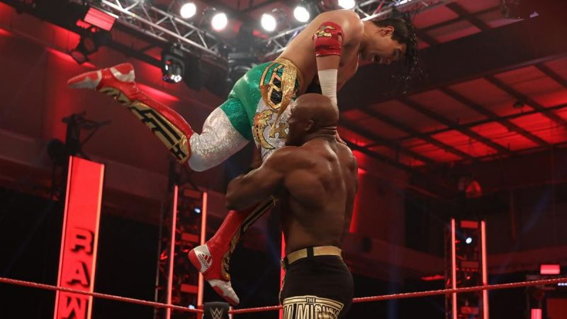 Bobby Lashley looked impressive inside the ring today