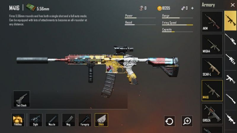 AKM vs M416 in PUBG Mobile