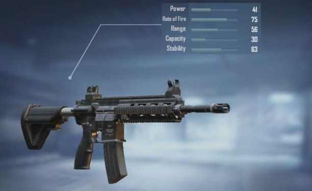 M416 with its stats