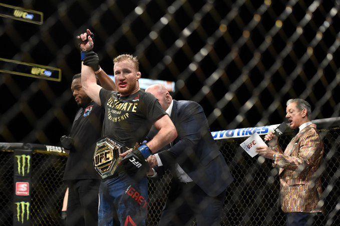 Justin Gaethje is the new interim UFC Lightweight Champion