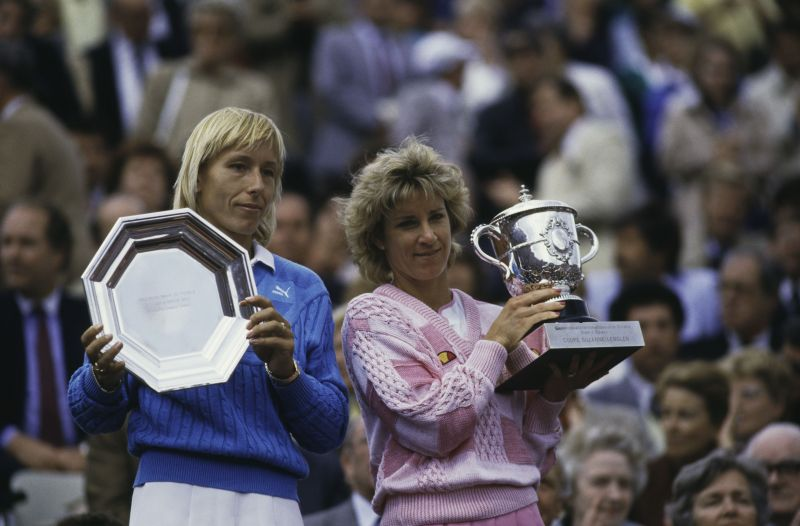 Martina Navratilova and Chris Evert met 22 times in Grand Slams