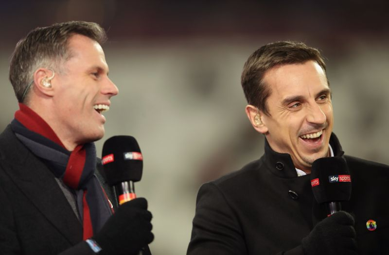 Gary Neville and Jamie Carragher are pundits for Sky Sports currently