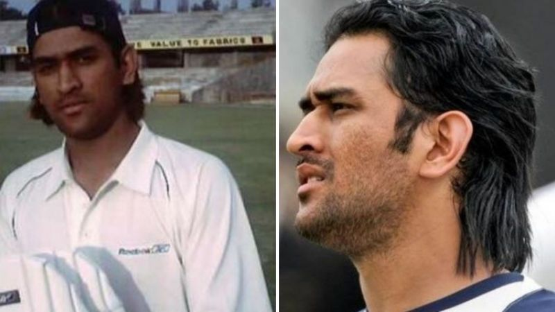 MS Dhoni pictured during his younger days