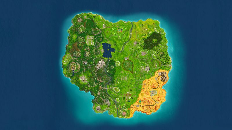Could the current Fortnite map be cutting short the game time? (Image Credits: Wallpaper access)