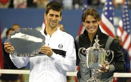 Rafael Nadal poses with his 2010 US Open title
